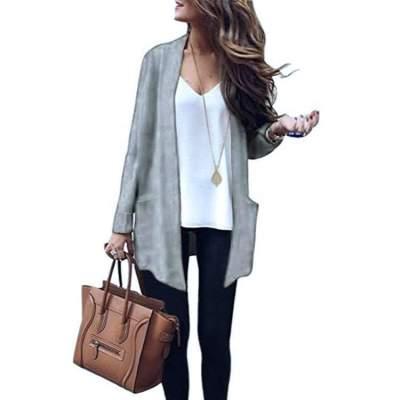 Fashion Pure Knit Pocket Cardigan Sweaters