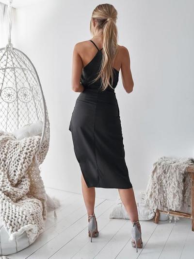 Fashion Chic Women Sexy V neck Strap Evening Dresses