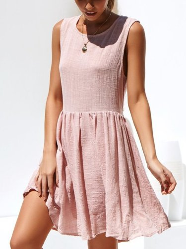 Women Loose Sleeveless Shift Dresses