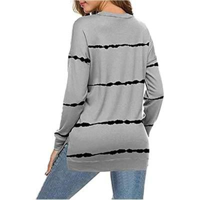 Fashion Casual Stripe Round neck Long sleeve Sweatshirts