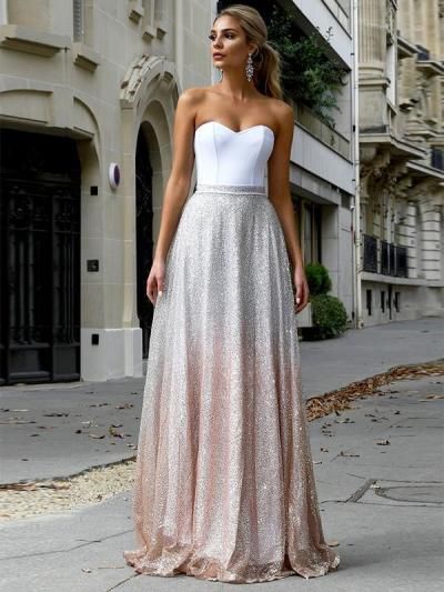 Sexy Sleeveless Tube Top long Dress Evening Dresses