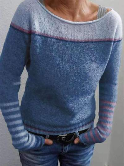 Fashion Round neck Long sleeve Sweaters