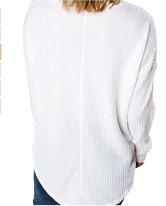 V Neck Long Sleeve Plain Fashion T-Shirts