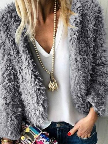 Casual Plain Long Sleeve Fashion Jackets
