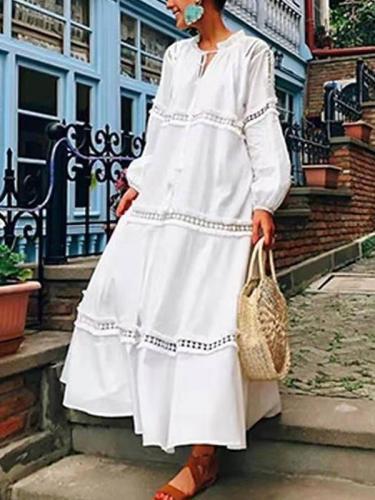 Fashion Pure Plus Lace Gored Maxi Dresses