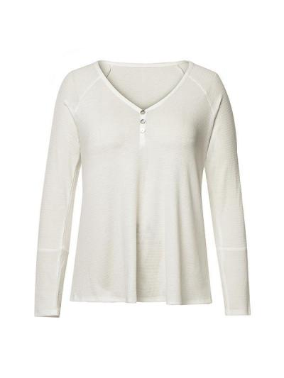 Fashion women's wear with v-neck studs and long sleeves