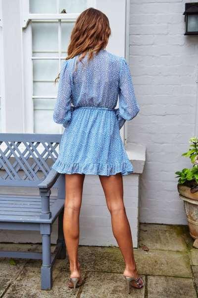 Fashion Point Round neck Long sleeve Skater Dresses