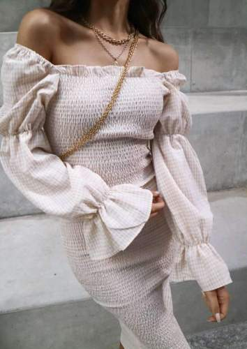 Sexy Off shoulder Long sleeve Tee Bodycon Dresses