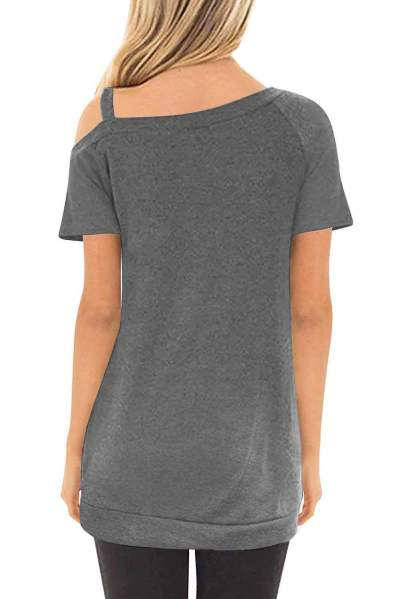 Fashion Pure Off shoulder Vest T-Shirts