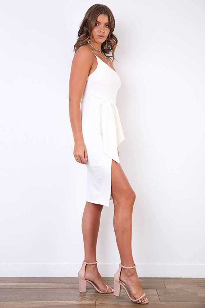 Sexy Pure Single shoulder Vent Bodycon Dresses