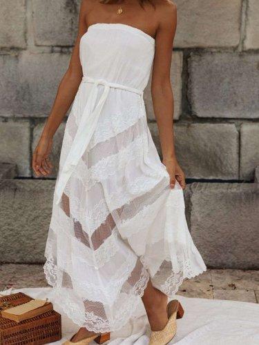Sexy Pure Vest Maxi Dresses