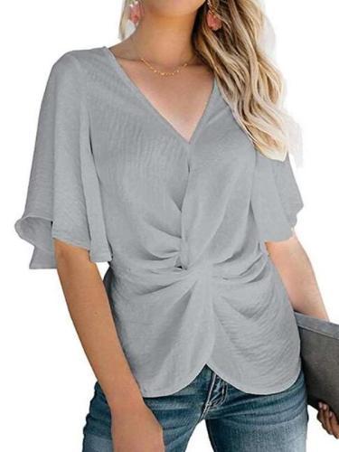 Fashion Snarls Short sleeve V neck T-Shirts