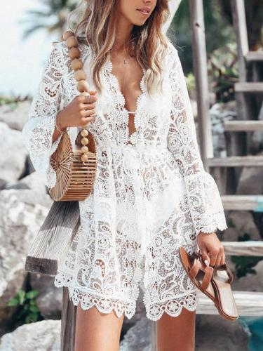 Elegant Lace suntan vacation dresses