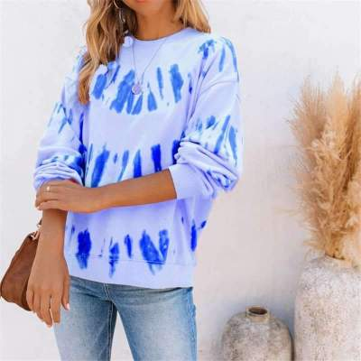 Casual Loose Print Round neck Long sleeve T-Shirts