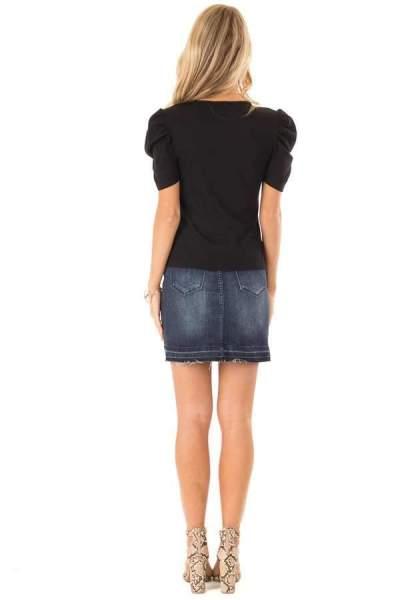 Women Round neck Puff sleeve T-Shirts