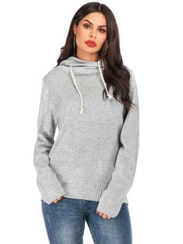 Loose Casual Long sleeve Knit Hoodies & Sweatshirts