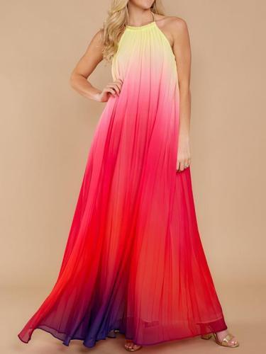 Fashion Strap Multicolor maxi Dresses