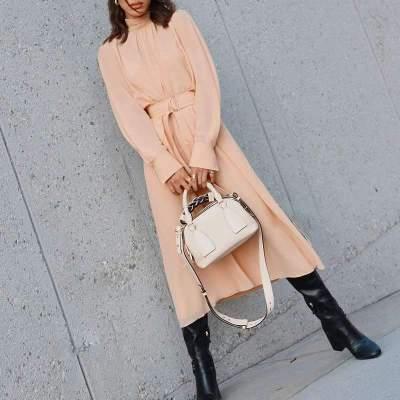 Fashion Pure High collar Long sleeve Lacing Maxi Dresses