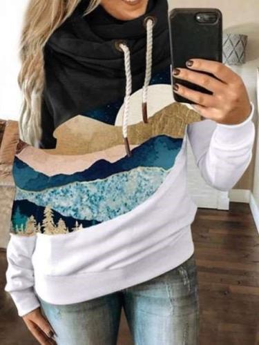 Fashion Print Long sleeve Hoodies Sweatshirts