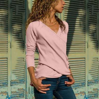 Fashion Pure Intersect  V neck Long sleeve  Knit Sweaters