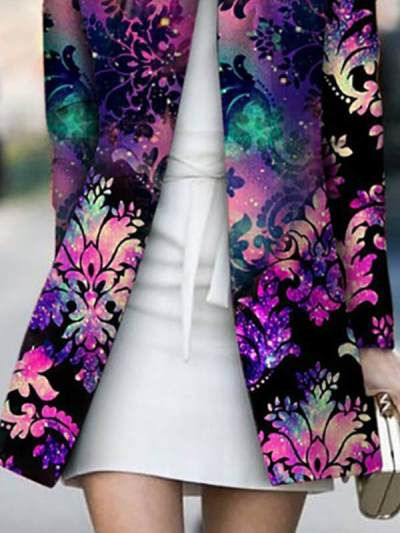 Design color casual fashion special printed coats jackets