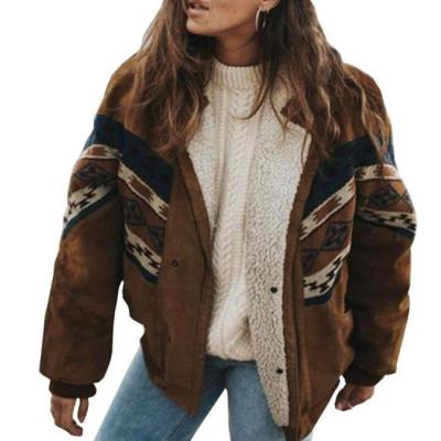 Vintage Daily Brown Cotton Jackets