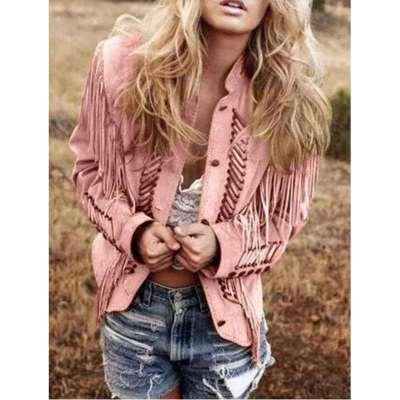 Fashion Pure Macrame Stand collar Long sleeve Coats