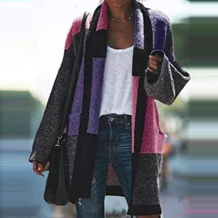 Fashion Gored Long sleeve Cardigan