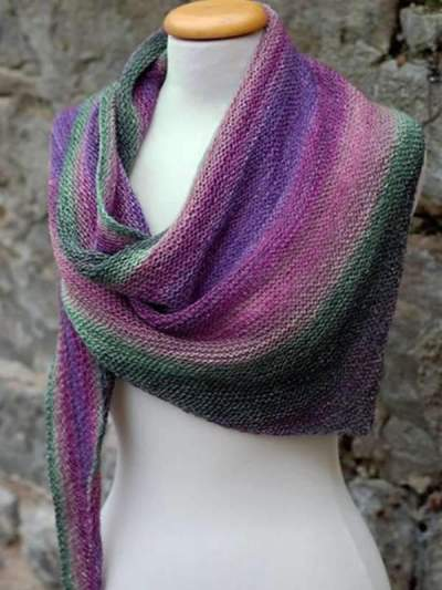 Vintage Women colorful Striped Fashion Winter Scarfs