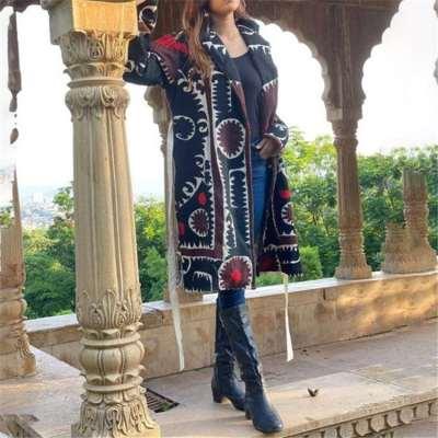 Fashion Caual Retro Lapel Long sleeve Coats