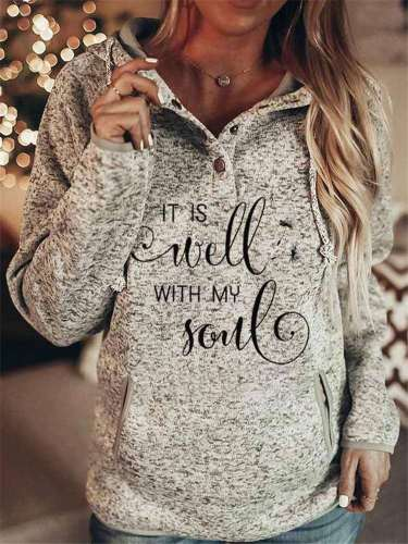 Fashion Word print Long sleeve Hoodies Sweatshirts