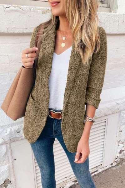 Casual Lapel Long sleeve Blazer