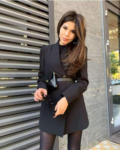 Fashion Pure Lapel Long sleeve Blazer Coats