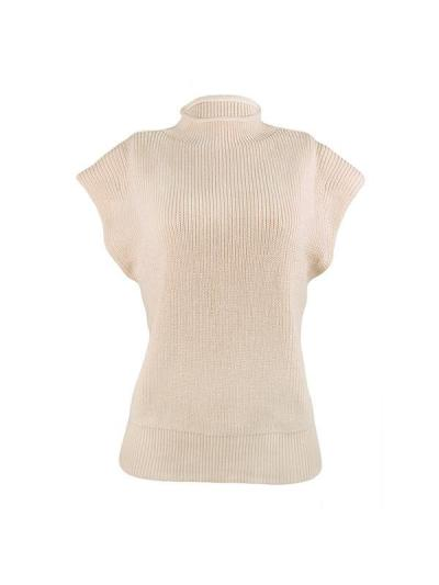 Plain high neck sleeveless fashion sweaters vests