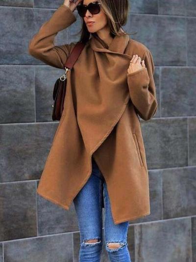 Fashion Casual Pure Lapel Long sleeve Coats