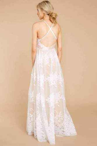 Sexy Pure Grenadine Embroidery V neck Sleeveless Evening Dresses