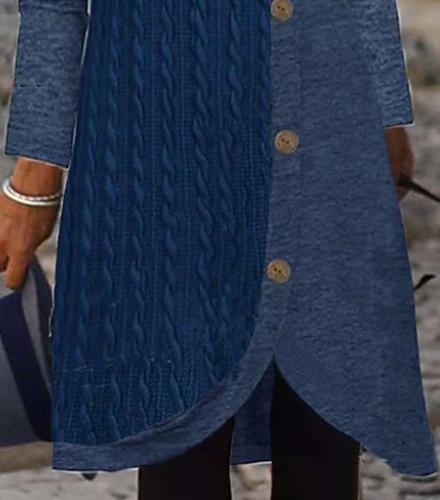 Fashion Gored Round neck Long sleeve Fastener Shift Dresses