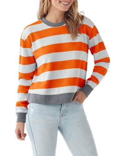 Stylish Stripe Round neck Long sleeve T-Shirts