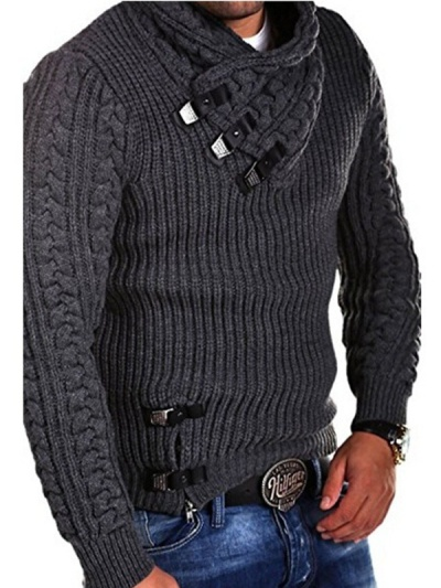Men's Fashion Long Sleeve Buttoned Sweater