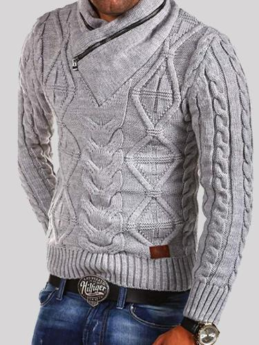Casual Fashion Retro Knitted Pullover Sweater