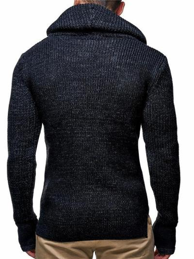 Men's Fashion High Neck Knitted Pullover Sweater