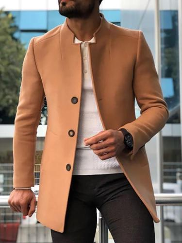 Men's Fashion Simple Stand Collar Short Coat