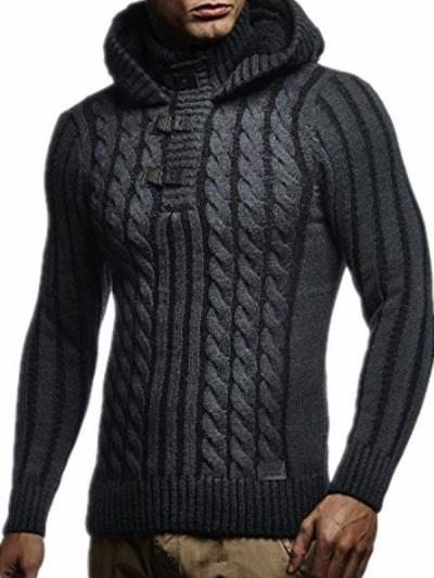 Mens Fashion Hooded Casual Sweater
