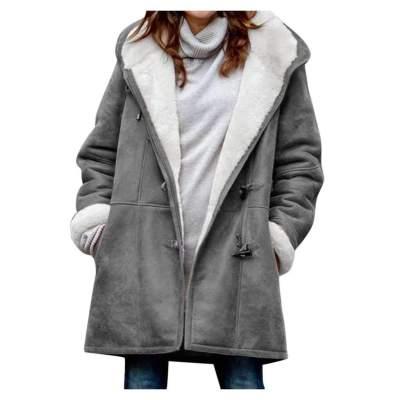 Fashion Casual Pure Plush Long sleeve Hoodie Coats