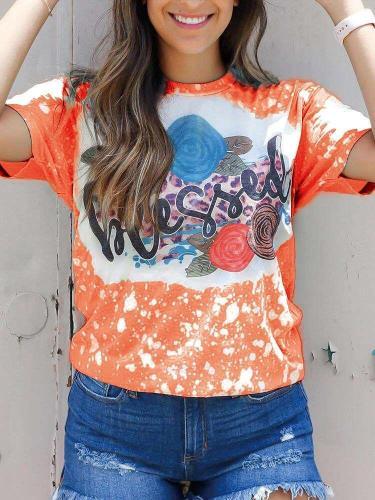 Fashion Casual Print Round neck Short sleeve T-Shirts