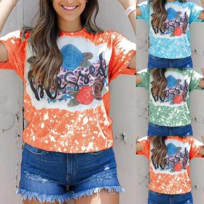 Fashion Casual Print Round neck Short sleeve T-Shirts