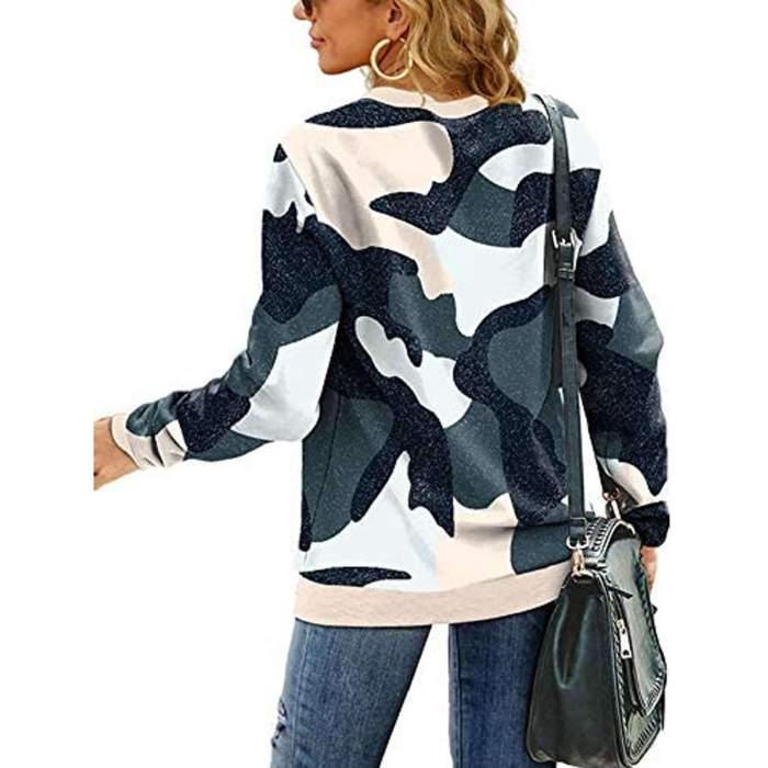 Print Round neck Long sleeve Sweatshirts T-Shirts
