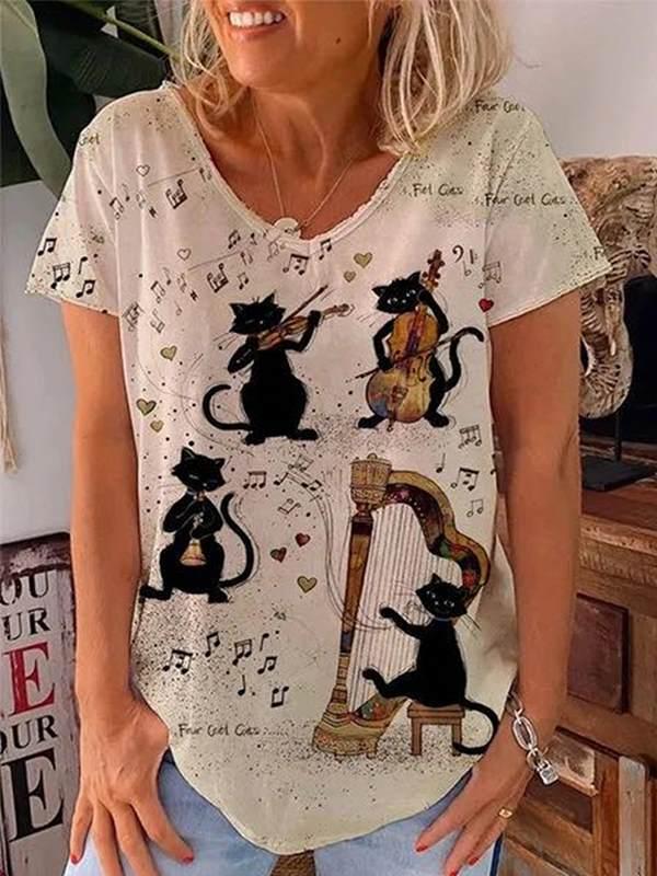 Life My Love Letter Lovely V neck blacj printed short sleeve women T-shirts