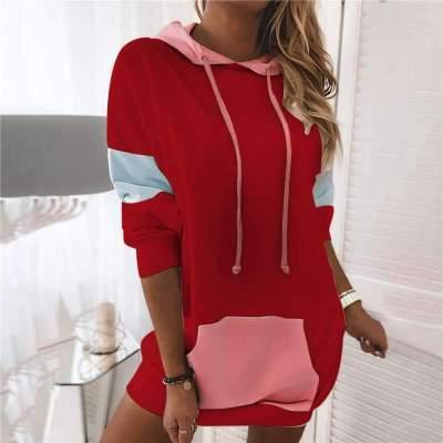 Casual Plus Gored Long sleeve Hoodies Sweatshirts