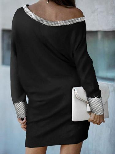 Sexy Solid Long Sleeves Sheath Above Knee Casual BodyconDresses